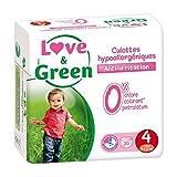 Culottes d'apprentissage jetables écologiques Love & Green Taille 4 MAXI 7-14kg