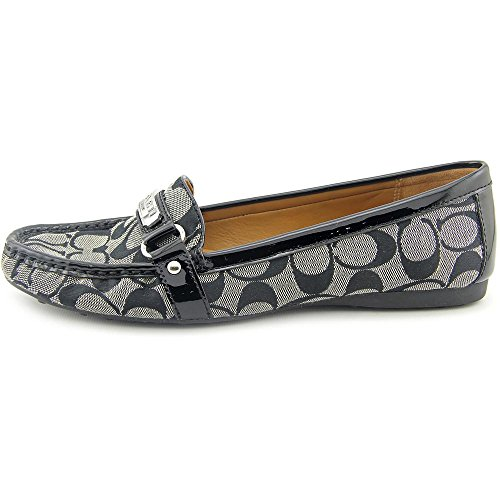 Coach Felisha Toile Mocassin Black-White