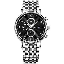 SHELI Mens Watches Top Brand Luxury Black Dial Waterproof Mechanical Stainless Steel Watch Business Reloj Hombrereloj