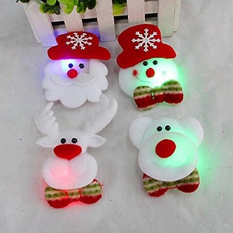 [Livraison Gratuite 7-12 jours] Broche noël mignon avec LED noël légers parti cadeau de décoration BML®
