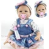 ZIYIUI Reborn Doll Morbida Bambola di Vinile in Silicone Realistico Bambola rigenerativa Ragazzo Ragazza Compleanno 22 Pollici 55 cm Giocattolo del Bambino