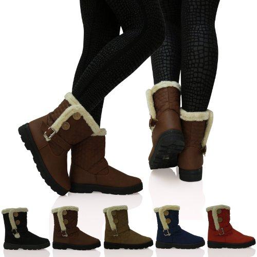s2-m-para-mujer-acolchada-piel-bailey-2-dos-boton-ladies-fashion-botas-de-nieve-color-marron-talla-4