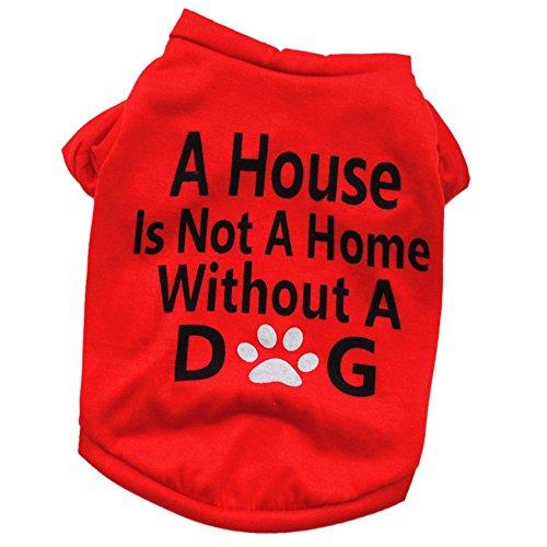 Etophigh Pet Fashion Frühling und Sommer Hund Classic Alphabet Print Doggy Kleidung Kleidung Baumwolle T-Shirt Cute Puppy Top Shirts Bluse