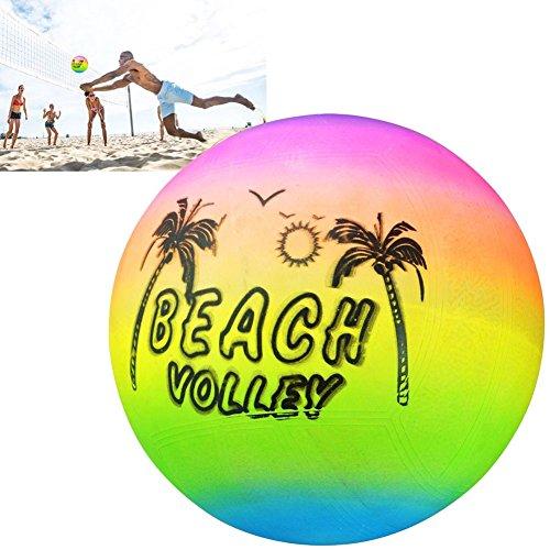 Ainstsk Beach Volleyball, Rainbow Sommer aufblasbare Schwimmen Pool Volleyball aus Gummi Spielzeug Spiel Kinder Spielzeug, schwimmenden Kugel, Soft Touch Outdoor Beach Gym Ball Wasser (Rainbow Beach Ball)