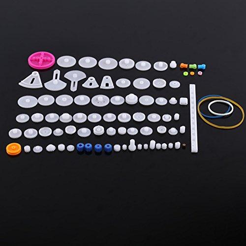 Plastik-Motor-Zahnräder DIY Roboter Gang Ausrüstungs Riemenscheiben Gurt Einzelne / Doppelte Kronen Wurm Gänge DIY Auto-Roboter(85er)