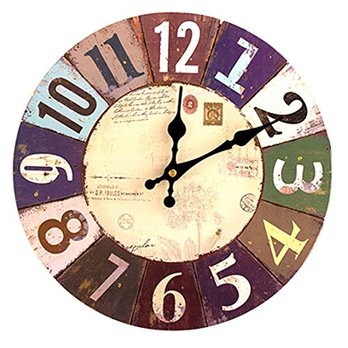 Wanduhr Lautlos, Likeluk 12zoll (30cm) Vintage Wanduhr Uhr Uhren Wall Clock ohne Tickgeräusche