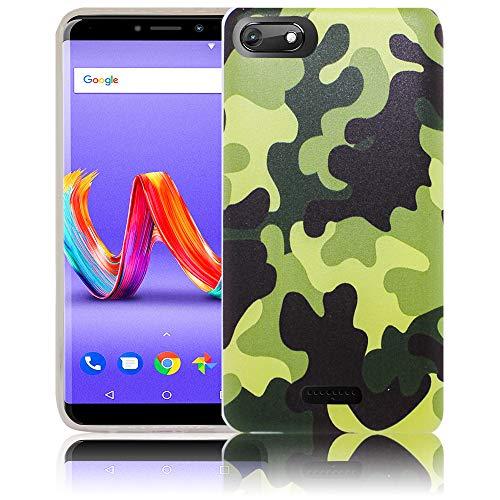thematys® Compatible para Wiko Harry 2 Camuflaje Funda de Silicona para móvil - Polvo, Choque y ligereza - Funda para Smartphone