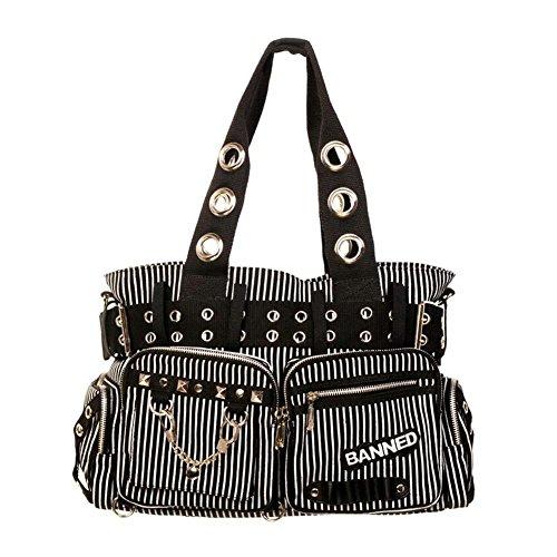 Banned ORIGINAL Rockwear Tartan Handtasche Reisetasche Schultertasche Umhängetasche Rockabilly