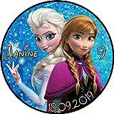 Tortenaufleger Fototorte Tortenbild Kindergeburtstag Frozen Elsa Anna Eiskönigin F02 (Zuckerpapier) Rund 20 cm Ø