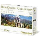 Clementoni - Puzzle de 1000 piezas, High Quality Panorama, diseño Neuschwanstein (392834)
