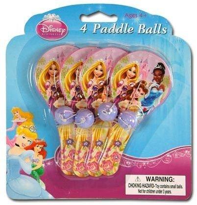 Disney Princess 4pk Mini Paddle Ball by DDI -