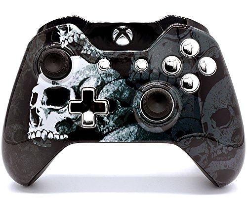 Totenkopf Knochen Xbox One Custom un-modded Controller Exklusives Design mit 3,5Klinke (Controller Xbox Modded Billig)