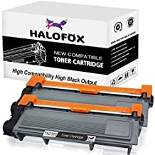 HaloFox 2 Cartuchos de tóner TN2320 / TN660 Negro para Brother MFC-L2700DW MFC-L2720DW MFC-L2740DW DCP-L2500D DCP-L2520DW DCP-L2540DN DCP-L2560DW HL-L2300D HL-L2320D HL-L2335DN HL-L2340DW HL-L2360DN HL-L2360DW HL-L2365DW HL-L2380DW HL-L2560DN Impresora