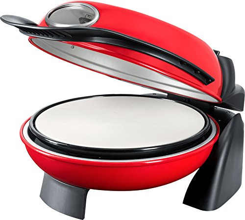 Steba PB 1 Pizza Oven with Rotating Plate, 1000 W, Red/Black