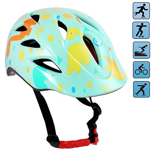 Speedrid Kinder Schutzausrüstung Set, Kleinkind Schutz Helm für Roller Fahrrad Skateboard und Andere Extreme Sportaktivitäten (Grun Nur Helm, 50-54 cm)