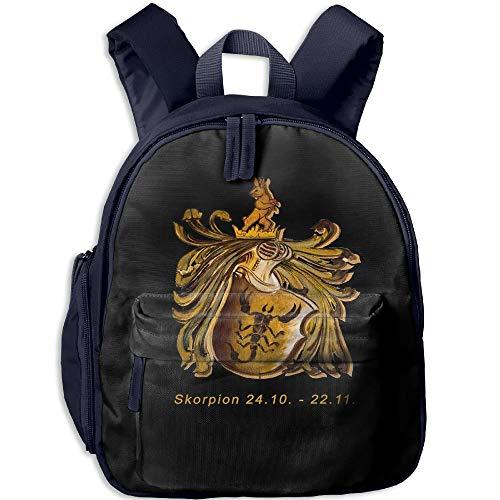 Skorpion Sign Toddler Kids Pre School Bag Cute 3D Print Children School Backpack