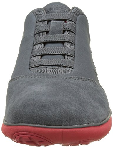 Geox U Nebula B, Sneakers Basses Homme Gris (Charcoal/Redc9050)