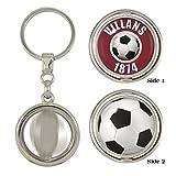 Villans 1874 & Football 2-Sided Spinner Keyring