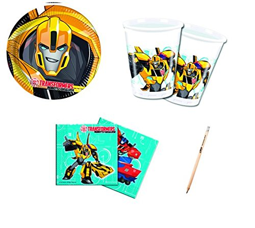 IRPot-Kit N 2Geburtstag Transformers Set Tisch Dekorationen Party Kind Kinder (Party Dekorationen Transformers)