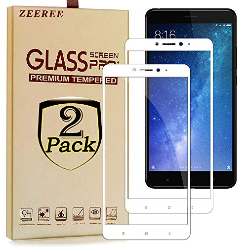 ZEEREE [2 units] para Mi MAX 2 Screen saver, Dureza de Grado 9H Cristal Vidrio Templado Premium Protectores de Pantalla para Xiaomi Mi MAX 2 (6,44 Inch)