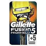 Gillette Fusion ProShield - Rasoio da uomo con tecnologia Flexball + ricariche di lame