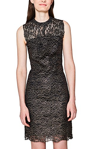 ESPRIT Collection Damen 107EO1E016 Partykleid, Schwarz (Black 2 002), 40