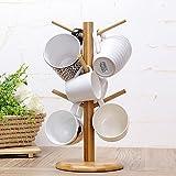 Loriver Bambus Tassenbaum für 6 Tassen oder Becher, Höhe 35 cm - sparen Platz