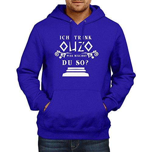 Preisvergleich Produktbild TEXLAB - Ich trink Ouzo, was machst du so - Herren Kapuzenpullover, Größe M, marine