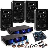 PA System Fastnacht Karnevalswagen Musikanlage 4x Boxen 2x Verstärker USB Mixer DJ-Alaaf