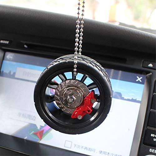Auto Anhänger Reifen Rad Modell Schlüsselbund Auto Felge Kette Anhänger Halter Rückspiegel Schlüsselbund Dekoration - Anhänger-reifen-halter