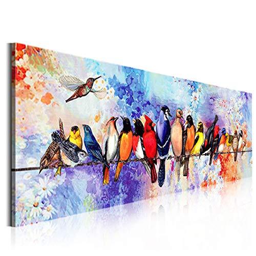 OMGO d'oiseaux Heureux Tableau Décoratif Mural Impression,...