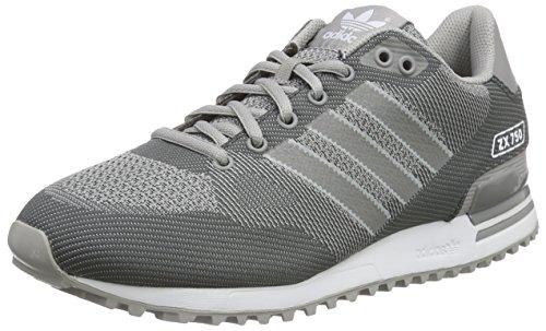 adidas - Zx 750 Woven, Scarpe da Ginnastica Basse Uomo Grigio (Grey (Mgh Solid Grey/Ch Solid Grey/Ftwr White))