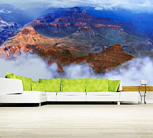 Preisvergleich Produktbild Wxlsl 3D Tapete Parks Wolken Crag Natur Foto Cliff Tapete,  Wohnzimmer Tv Hintergrund Sofa Wand Schlafzimmer Küche Restaurant Bar 3D Wandbild-350cmx256cm
