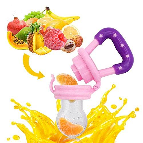 Emon Baby Food Feeder (2pack) |-Feeder frutta, Giocattolo per la dentizione, massaggiagengive in Silicone Roditrice | Nessun Mesh Bag