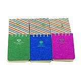 NUOBESTY portatile mini bobina quaderni vocabolario scrittura recitazione libro governato piccola carta da lettere blocchi per appunti materiale scolastico - 6 pezzi, motivo casuale