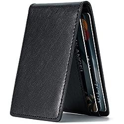 Funda para Tarjeta de identificación, tamaño Mini, Ultra Delgada, con Bloqueo RFID - Negro - S