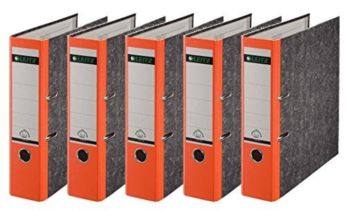 Leitz 1080/1050 Standard Ordner A4 (breit | 5er Pack, orange)