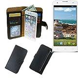 Portemonnaie Schutz Hülle für MobiWire Ahiga, schwarz aus