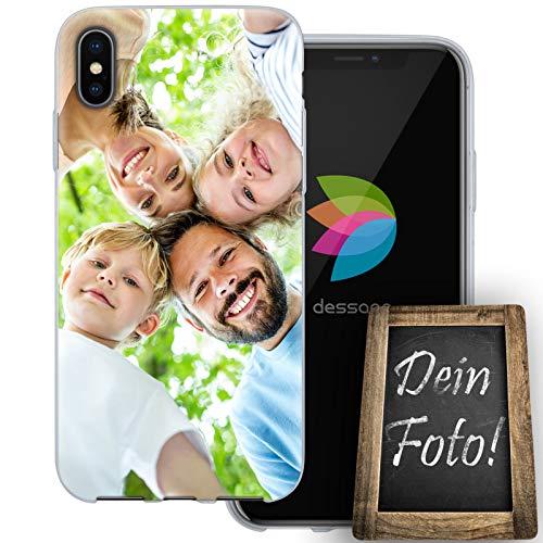 dessana Eigenes Foto transparente Schutzhülle Handy Tasche Case für Apple iPhone XS Max