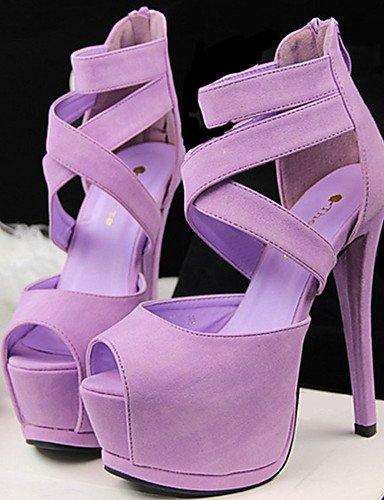 WSS 2016 Chaussures Femme-Décontracté-Noir / Vert / Rose / Violet / Orange-Talon Aiguille-Talons-Talons-Polyuréthane pink-us5.5 / eu36 / uk3.5 / cn35