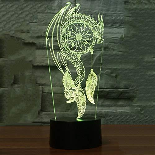 Led 3D Led Chimes Table Lampe Kid Touch Interrupteur Capteur De Rêves Forme Veilleuses Nuit Usb Chambre Sommeil Éclairage Luminaria Décor À La Maison
