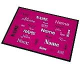 Herz & Heim® Fußmatte pink mit Aufdruck des eigenen Namens in verschieden Schriftarten