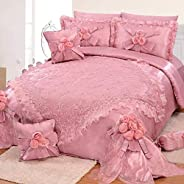 SWC Lace Wedding Comforter 9pcs Set King