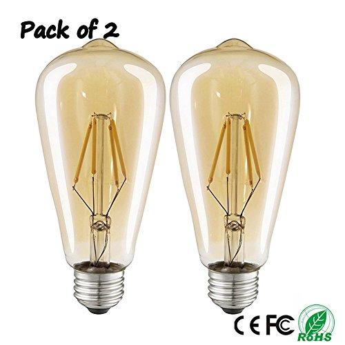 LED Glühbirne Transparent 2 (2er ST64 4W 2700K)