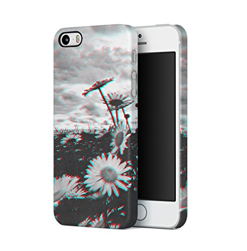 Trippy Daisy Grunge Tumblr Apple iPhone 5 / iPhone 5S / iPhone SE SnapOn Hard Plastic Phone Protective Fall Handyhülle Case Cover (I Phone 5 Fällen Trippy)