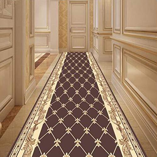 HRD Las alfombras Marrones Modernas para pasillos Son Personalizables, Resistentes al Desgaste, Lavables...