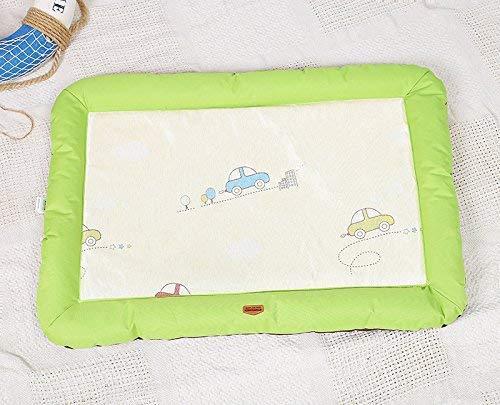 Sommer Haustier Hund Mat Bett Hund Welpen Kühlmatte Pad Kissen Bett für Pitbull Dog House Kennel Nest (grün, M) für Katze/Hund -