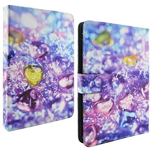 Preisvergleich Produktbild Qiaogle Tablet Case - PU Leder Schutzhülle Case Cover für Universal 10.1 Zoll Tablet - MW62 / Gemstone