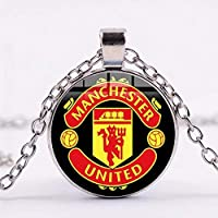 Necklace with circle pendant with Manchester United club logo