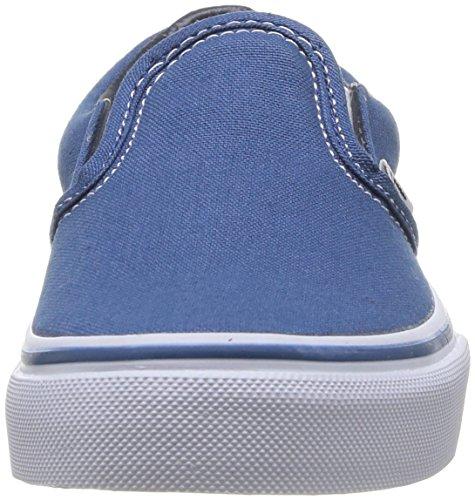 Vans Kids Classic Slip-on Baskets Mode Mixte Enfant Bleu (Navy/True White)